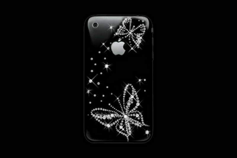 Apple iPhone Swarovski Butterfly MJ Edition Black Fashion