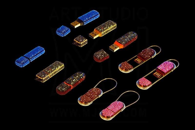 Unique Luxury Flash Drives Inlaid Crystal Swarovski