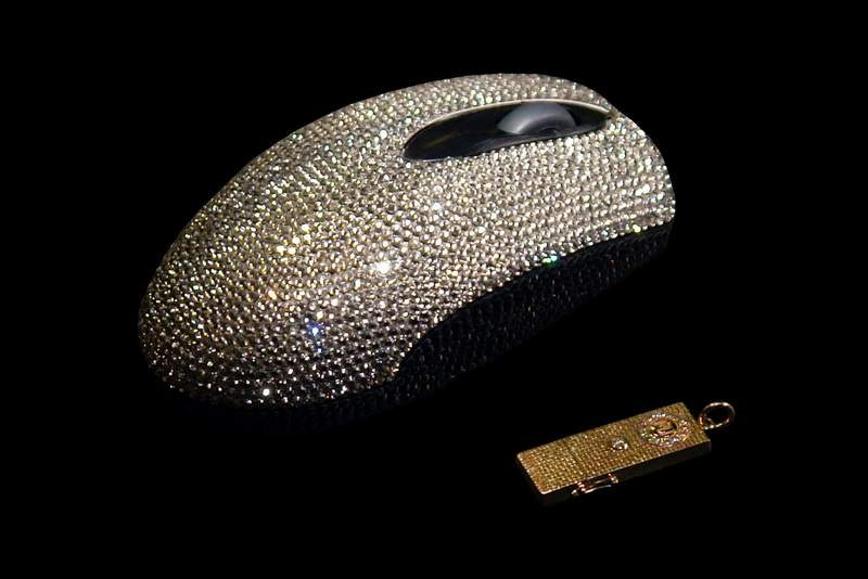 MJ Mouse Diamond Luxury Edition - Inlaid Unique Swarovski Strass or Real Diamonds